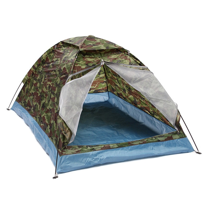 More Durable 2 Persons Camping Tent Sunshade Double-layer Waterproof Windproof Anti-UV Sun Shading Shelter Outdoor Hiking Tent