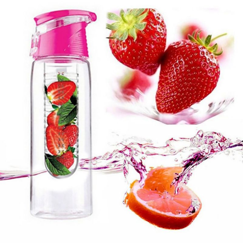 800ml Free Fruit Infuser Juice Shaker Sports Lemon Water Bottle Tour hiking Portable Climbing Camp Bottles