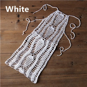 Under Cover - Crochet Beach Mini Dress Summer Bikini Cover Up Sexy Woman Boho Dress Cocktails