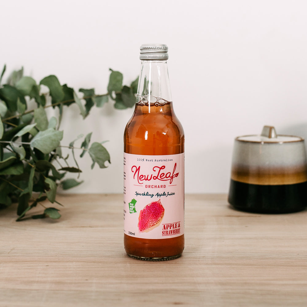 Sparkling Apple & Strawberry Juice - 12 x 330ml