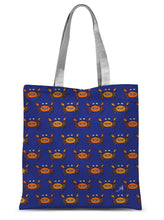 "Load image into Gallery viewer, Accessories 15""x16.5"" Mr and Mrs Crabby Blue Amanya Design Sublimation Tote Bag Prodigi"