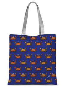"Accessories 15""x16.5"" Mr and Mrs Crabby Blue Amanya Design Sublimation Tote Bag Prodigi"