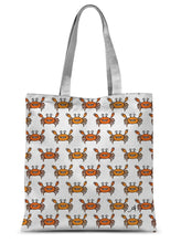 "Load image into Gallery viewer, Accessories 15""x16.5"" Mr and Mrs Crabby White Amanya Design Sublimation Tote Bag Prodigi"