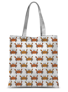 "Accessories 15""x16.5"" Mr and Mrs Crabby White Amanya Design Sublimation Tote Bag Prodigi"