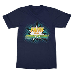 Apparel 2XL / Navy Faith is my Superpower! Amanya Design Softstyle T-Shirt Prodigi