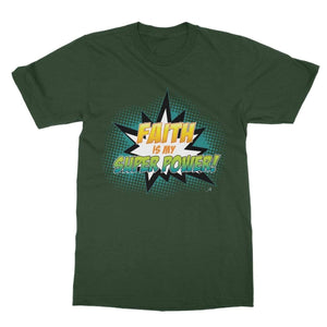 Apparel 2XL / Forest Green Faith is my Superpower! Amanya Design Softstyle T-Shirt Prodigi