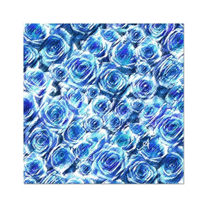 "Fine art 24""x24"" Textured Roses Cornflower Amanya Design Photo Art Print Prodigi"