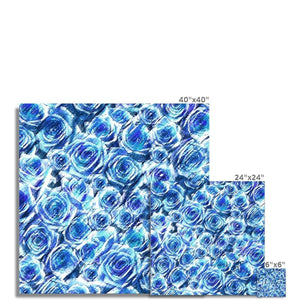 Fine art Textured Roses Cornflower Amanya Design Photo Art Print Prodigi