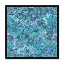 "Load image into Gallery viewer, Fine art 20""x20"" / Black Frame Watercolour Daisies Blue Amanya Design Framed Print Prodigi"