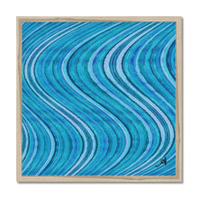 "Load image into Gallery viewer, Fine art 20""x20"" / Natural Frame Watercolour Waves Blue Amanya Design Framed Print Prodigi"
