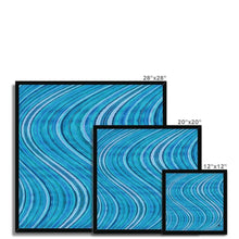 Load image into Gallery viewer, Fine art Watercolour Waves Blue Amanya Design Framed Print Prodigi