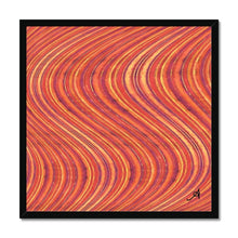 "Load image into Gallery viewer, Fine art 20""x20"" / Black Frame Watercolour Waves Red Amanya Design Framed Print Prodigi"