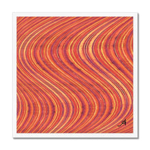 "Load image into Gallery viewer, Fine art 20""x20"" / White Frame Watercolour Waves Red Amanya Design Framed Print Prodigi"