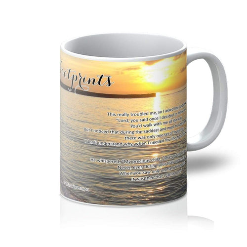 Homeware 11oz / White Footprints Amanya Design Mug Prodigi