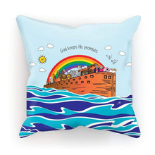 "Load image into Gallery viewer, Homeware Faux Suede / 18""x18"" Noah's Ark Amanya Design Cushion Prodigi"