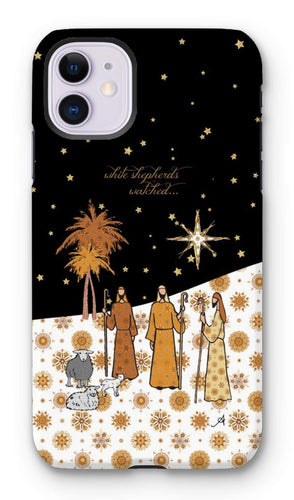 Phone & Tablet Cases iPhone 11 / Tough / Gloss Nativity Metallics Shepherds Amanya Design Tough Phone Case Prodigi