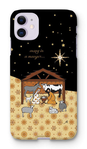 Phone & Tablet Cases iPhone 11 / Snap / Gloss Nativity Metallics Stable Amanya Design Phone Case Prodigi