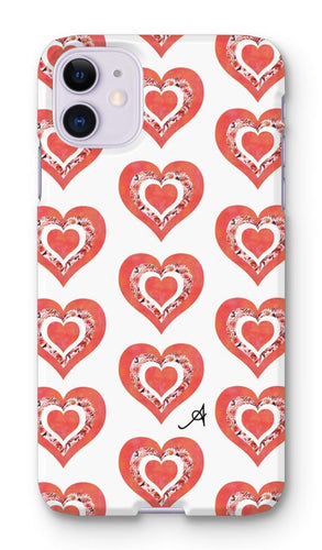 Phone & Tablet Cases iPhone 11 / Snap / Gloss Textured Roses Love Coral Amanya Design Phone Case Prodigi