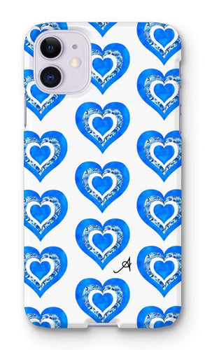 Phone & Tablet Cases iPhone 11 / Snap / Gloss Textured Roses Love Cornflower Amanya Design Phone Case Prodigi