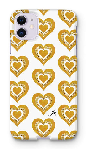 Phone & Tablet Cases iPhone 11 / Snap / Gloss Textured Roses Love Mustard Amanya Design Phone Case Prodigi