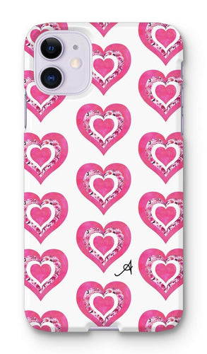 Phone & Tablet Cases iPhone 11 / Snap / Gloss Textured Roses Love Pink Amanya Design Phone Case Prodigi