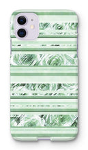 Load image into Gallery viewer, Phone & Tablet Cases iPhone 11 / Snap / Gloss Textured Roses Stripe Mint Amanya Design Phone Case Prodigi