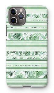 Phone & Tablet Cases iPhone 11 Pro / Snap / Gloss Textured Roses Stripe Mint Amanya Design Phone Case Prodigi