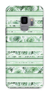 Phone & Tablet Cases Samsung Galaxy S9 / Snap / Gloss Textured Roses Stripe Mint Amanya Design Phone Case Prodigi