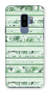 Phone & Tablet Cases Samsung Galaxy S9+ / Snap / Gloss Textured Roses Stripe Mint Amanya Design Phone Case Prodigi