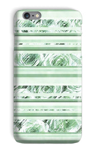 Phone & Tablet Cases iPhone 6s Plus / Snap / Gloss Textured Roses Stripe Mint Amanya Design Phone Case Prodigi