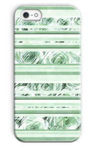 Phone & Tablet Cases iPhone SE / Snap / Gloss Textured Roses Stripe Mint Amanya Design Phone Case Prodigi