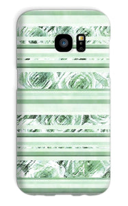 Phone & Tablet Cases Galaxy S7 / Snap / Gloss Textured Roses Stripe Mint Amanya Design Phone Case Prodigi