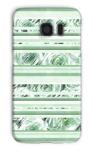 Phone & Tablet Cases Galaxy S6 / Snap / Gloss Textured Roses Stripe Mint Amanya Design Phone Case Prodigi