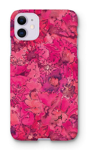 Phone & Tablet Cases iPhone 11 / Snap / Gloss Watercolour Daisies Pink Amanya Design Phone Case Prodigi