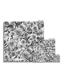 Load image into Gallery viewer, Photo Prints Textured Roses Monochrome Amanya Design C-Type Print Prodigi