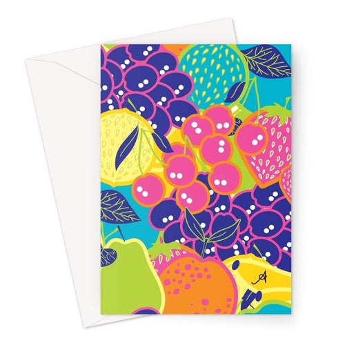 Stationery A5 / 1 Card Eat Me Allover Amanya Design Greeting Card Prodigi