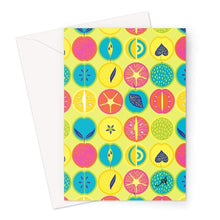 Load image into Gallery viewer, Stationery A5 / 1 Card Eat Me Tropicana Lime Amanya Design Greeting Card Prodigi