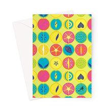 "Load image into Gallery viewer, Stationery 5""x7"" / 1 Card Eat Me Tropicana Lime Amanya Design Greeting Card Prodigi"