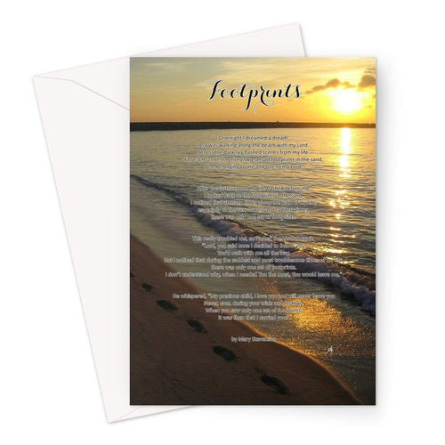 Stationery A5 / 1 Card Footprints Amanya Design Greeting Card Prodigi