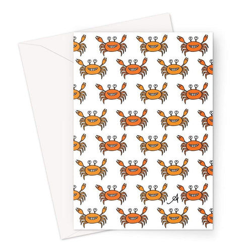 Stationery A5 / 1 Card Mr and Mrs Crabby White Amanya Design Greeting Card Prodigi