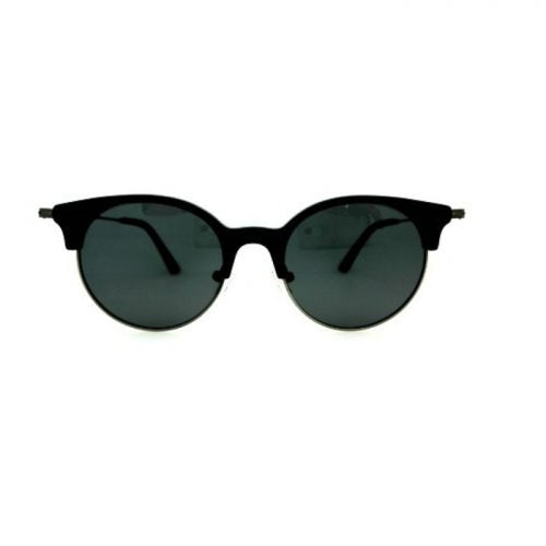 Vintage style Cat Eye Retro Round Black Sunglasses_ front view_sunglasses for petite women