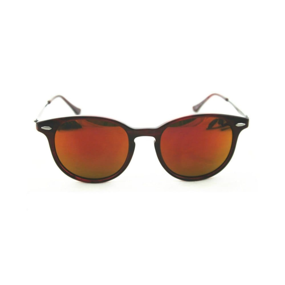 Lightweight Red Reflective Sunglasses