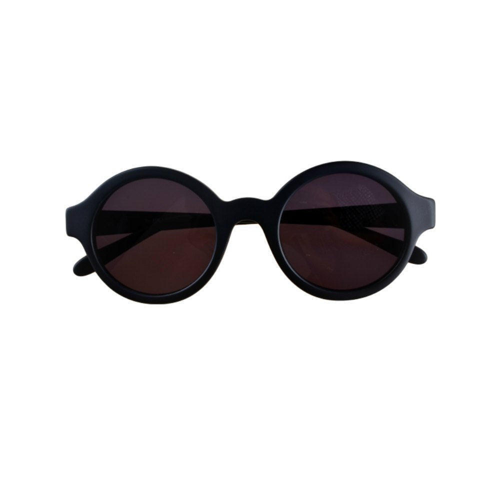Vintage Style Over-sized Retro Round Black Sunglasses
