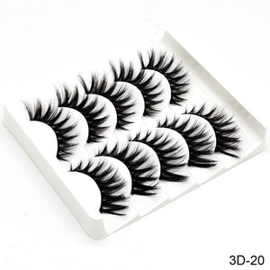 5Pairs Mink Hair False Eyelashes Natural/Thick Long Eye Lashes