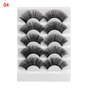 5 Pairs 2 Styles 3D False Eyelashes