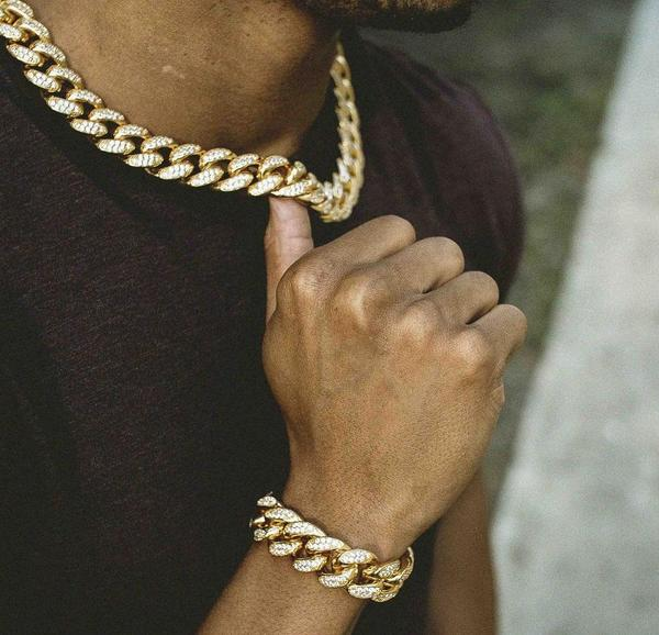 Iced Out Cuban Set