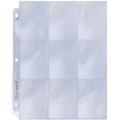 Binder Pages Ultra Pro Single Sleeves 9 Pocket Top Load