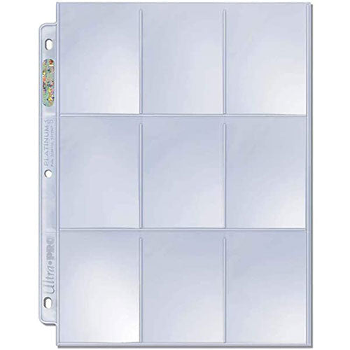 Binder Pages Ultra Pro Single Sleeves 9 Pocket Top Load Secure
