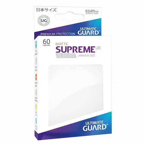 Deck Protector Ultimate Guard Supreme UX Small Size Matte White 60ct