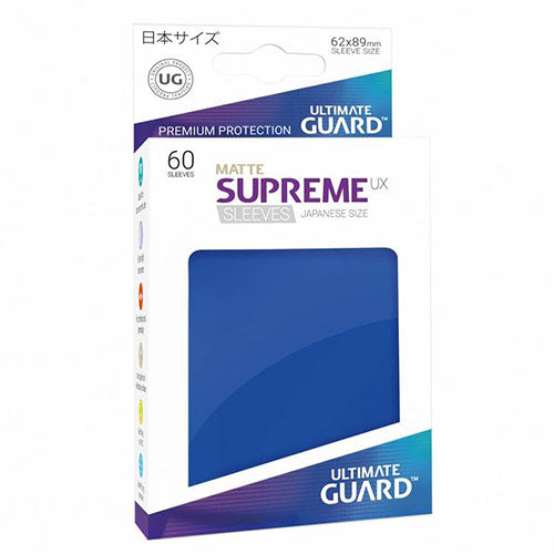 Deck Protector Ultimate Guard Supreme UX Small Size Matte Blue 60ct